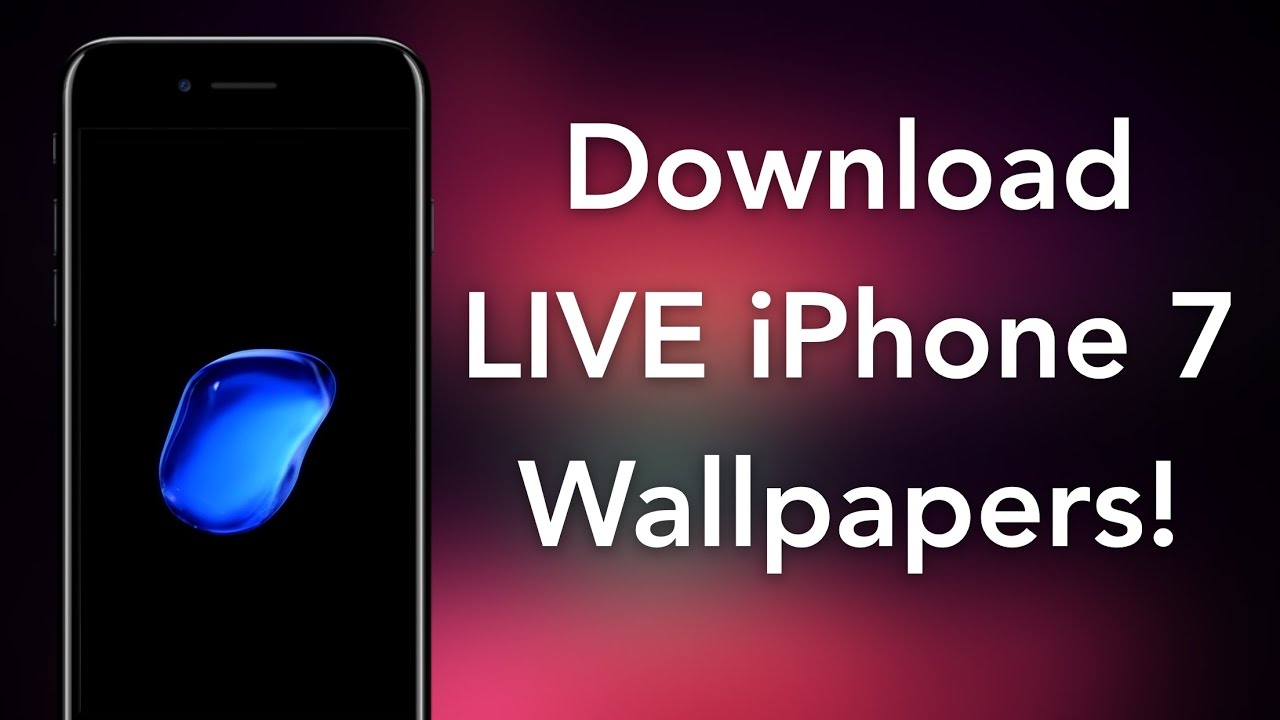 How To Get Iphone 7 Live Bubble Wallpapers On Ios 10 Youtube