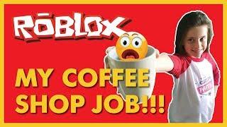 Working SO hard at a #ROBLOX Coffee shop! #NOTIAMFAITH