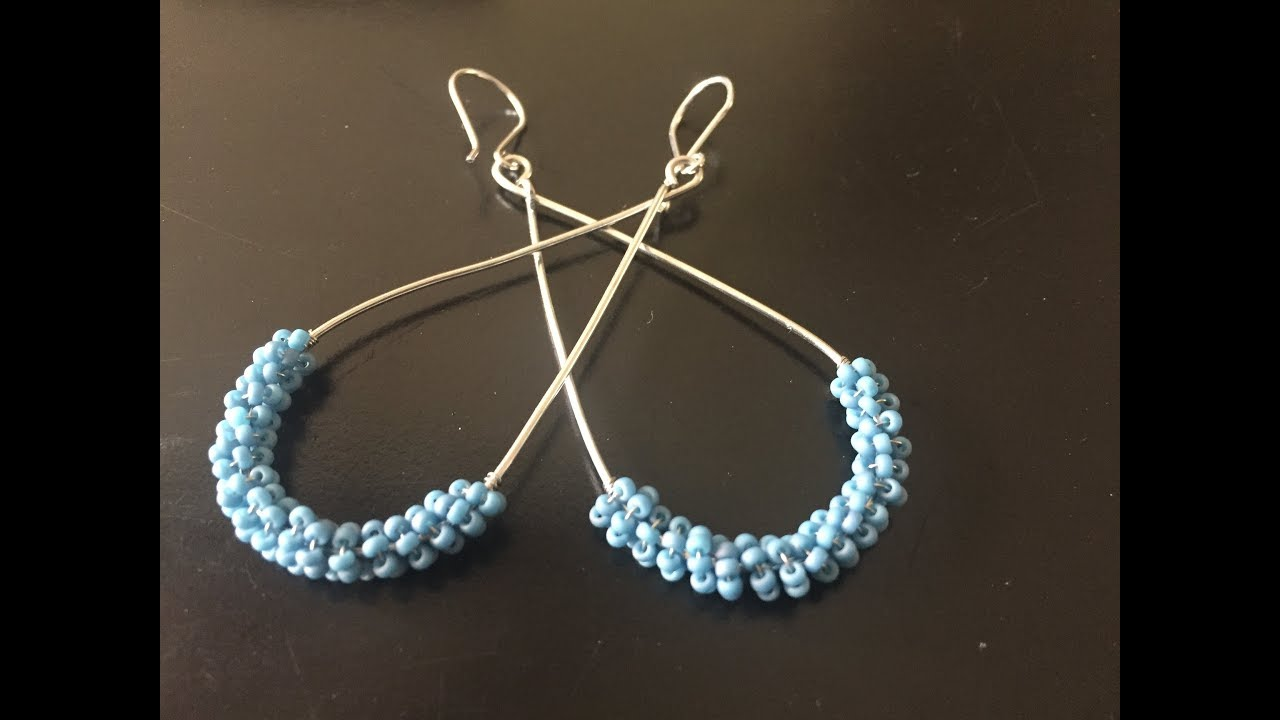 Diy Sieraden Coil Kralen Oorbellen Coiled Beads Earrings Youtube