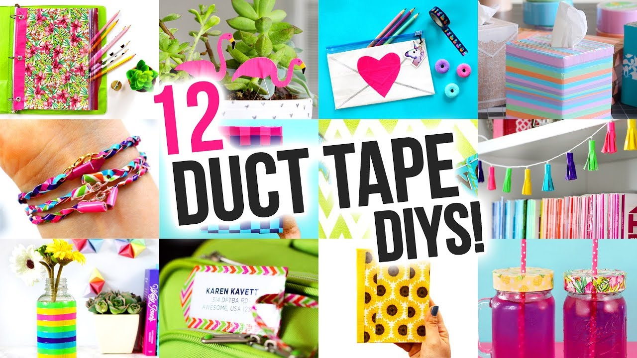 Diy Ideas To Make Out Of Duct Tape Diy Compilation Video Karenkavett
