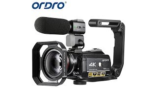 4K Camcorder, ORDRO AC3 Ultra HD Video Camera 1080P 60FPS IR Night Vision Camcorder and WiFi Camera