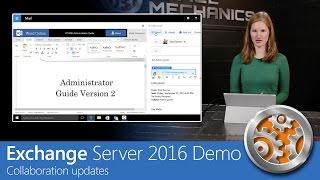 exchange Server 2016 demo - Collaboration updates