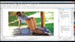 Corel Draw para iniciantes - Efeito Clipart em foto sensual