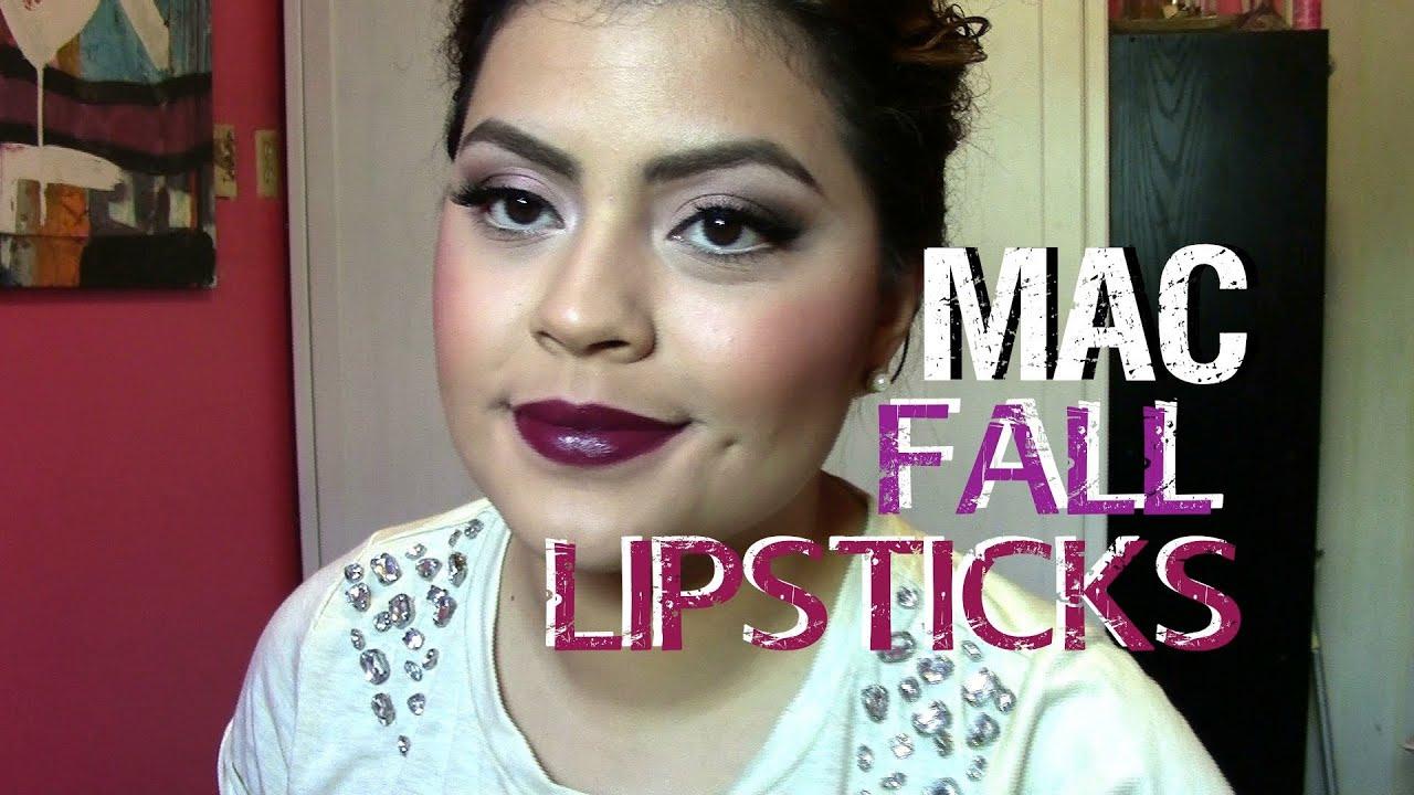 Bien connu MAC FALL LIPSTICK PICKS! Lip Swatches! - YouTube AZ84