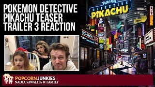 Pokemon Detective Pikachu Teaser Trailer 3 (TV Spot) Nadia Sawalha & Family Reaction