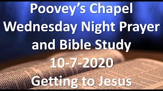 Poovey's Chapel Baptist Church -Wednesday Night 10-7-2020