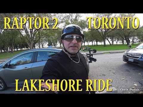 Raptor 2 Downtown Toronto Lakeshore Leisure Ride..in 4K