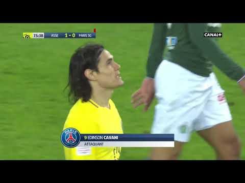 Edinson Cavani - MISS OF THE SEASON??? Saint Etienne vs PSG 06/04/2018