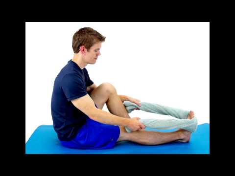 CALF STRETCH WITH TOWEL -hep2go