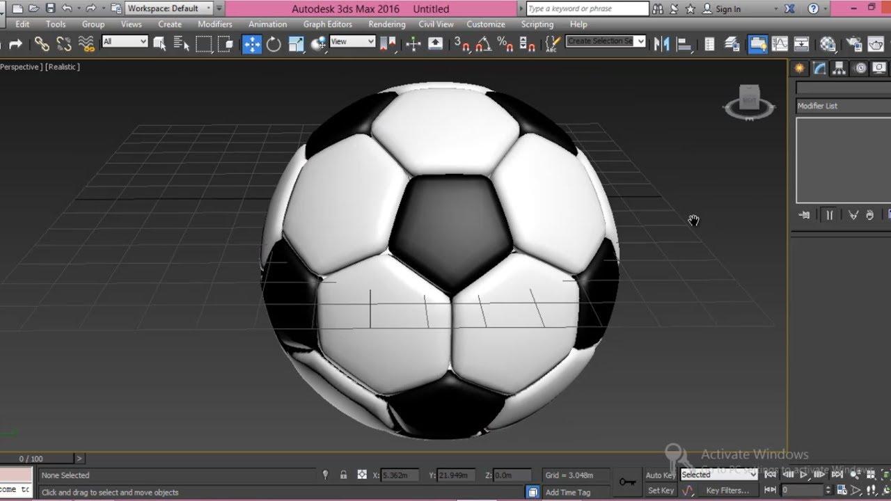 3ds Max Football Modeling Tutorial For Beginner YouTube