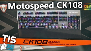 Motospeed CK108 - Gaming Mechanical Keyboard | Unboxing & Review (Greek)
