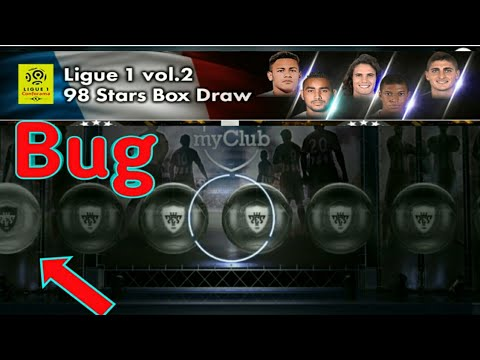 Black Ball Bug in Ligue 1 vol.2 98 Stars Box Draw Opening- Pes 18 Mobile - 동영상