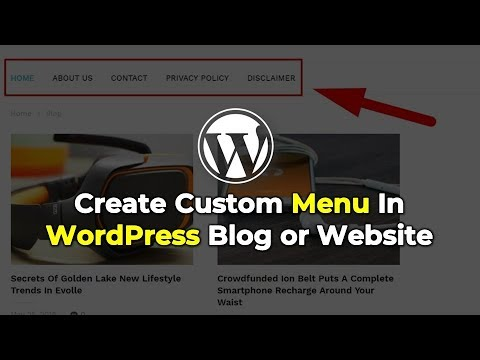 How to create Menu in WordPress blog?