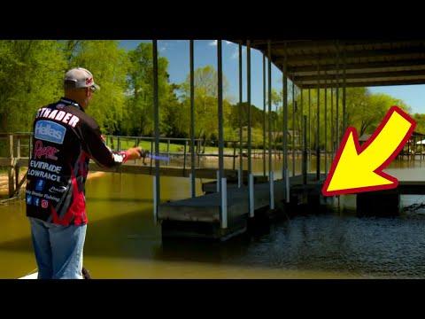 How To Skip Under Docks - Strader Bass Fishing Secret Tips