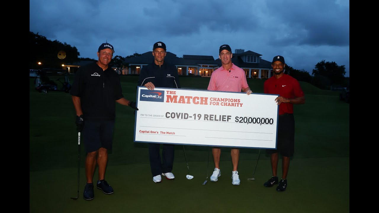 Tiger Woods and Peyton Manning win 'Champions for Charity' golf ...