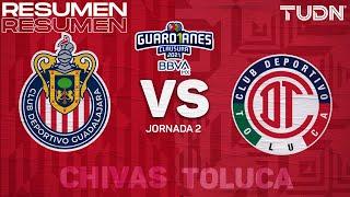 Resumen y goles | Chivas vs Toluca | Torneo Guard1anes 2021 BBVA MX - J2 | TUDN