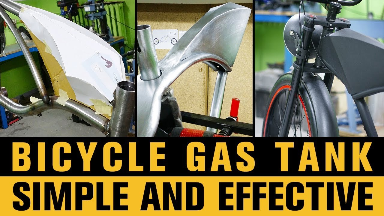HOW TO BUILD BICYCLE GAS TANK (FAKE TANK)