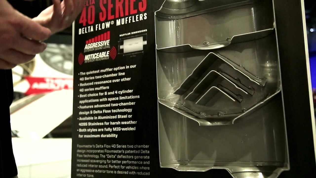 Mufflers 4 Less >> Flowmaster 40 Series Delta Flow Mufflers Review - SEMA 2013 - YouTube