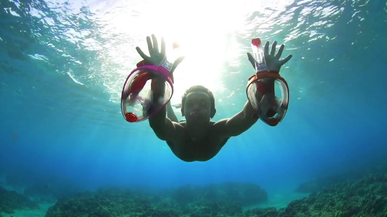 обзор масок для подводного плавания - YouTube