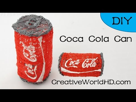 Coca Cola Can 3D- How to Tutorial 3D Printing Pen/Scribbler DIY