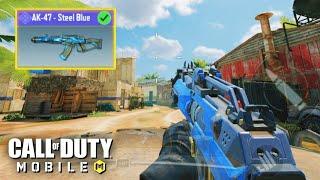 *NEW* AK47 STEEL BLUE GAMEPLAY in CALL OF DUTY MOBILE!! TIER 50 BATTLE PASS GUN