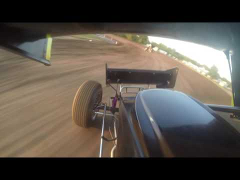 Justin Henderson Rapid Speedway Heat Race Action from 7/19/16