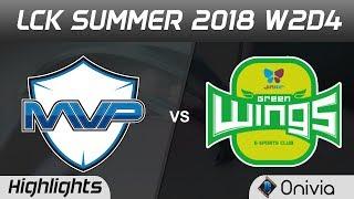 Mvp vs jag highlights game 2 lck summer 2018 w2d4 mvp vs jin air greenwings by onivia