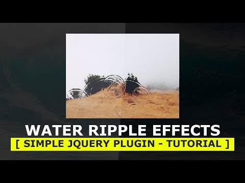 Awesome water ripple canvas animations | Nikkies Tutorials