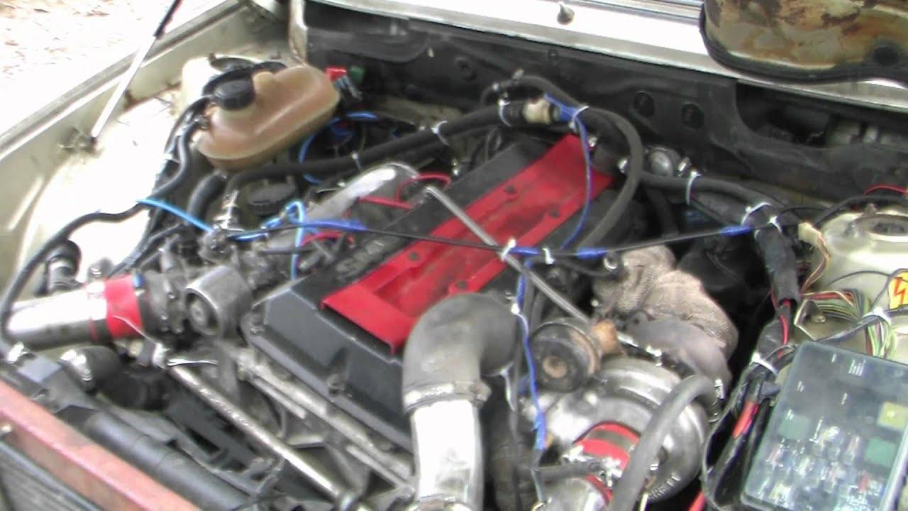 Bwm With Saab Engine Bezdesam Lv Turbo Wheelspin Youtube