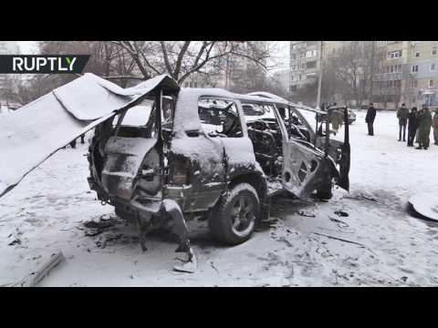 Lugansk militia commander killed in car bomb blast in eastern Ukraine