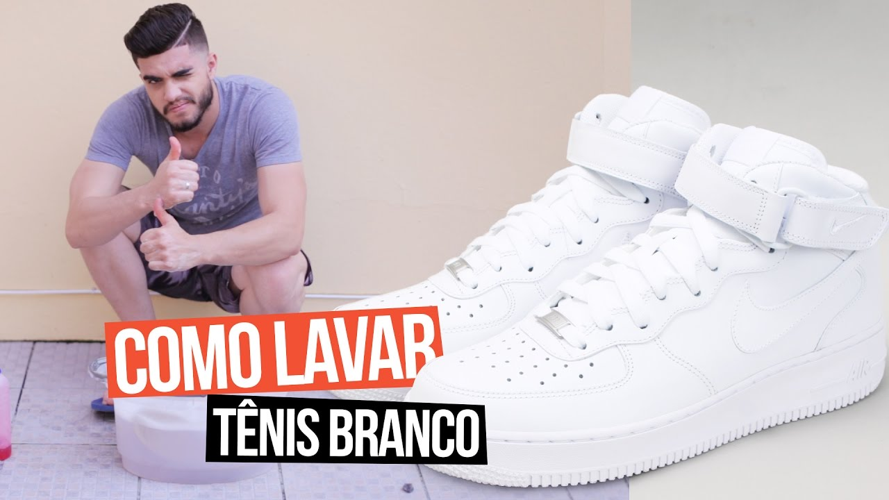 8dee7697078 COMO LAVAR TÊNIS BRANCO - YouTube