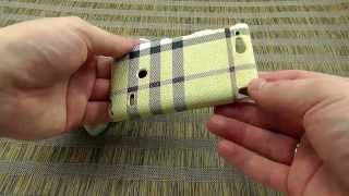 Обзор: Накладка KINGPAD для Sony Xperia Go ST27i в стиле BURBERRY. Обзор от Электробума!