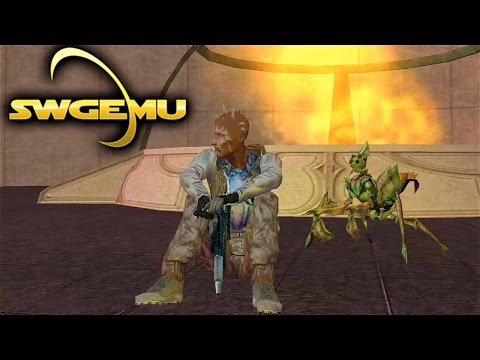 Star Wars Galaxies Gameplay – Taming On Corellia (Creature Handler Basics – SWGEmu Basilisk – )
