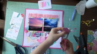 Inspiration @ Home #1 - 12x12 Scrapbooking Process Video - Dear Lizzy Serendipity