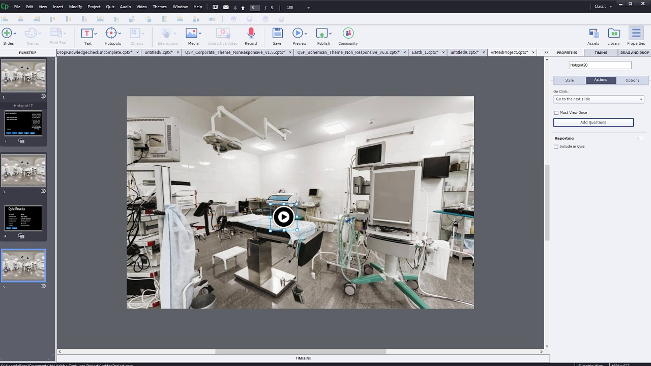 Create Virtual Reality projects in Captivate