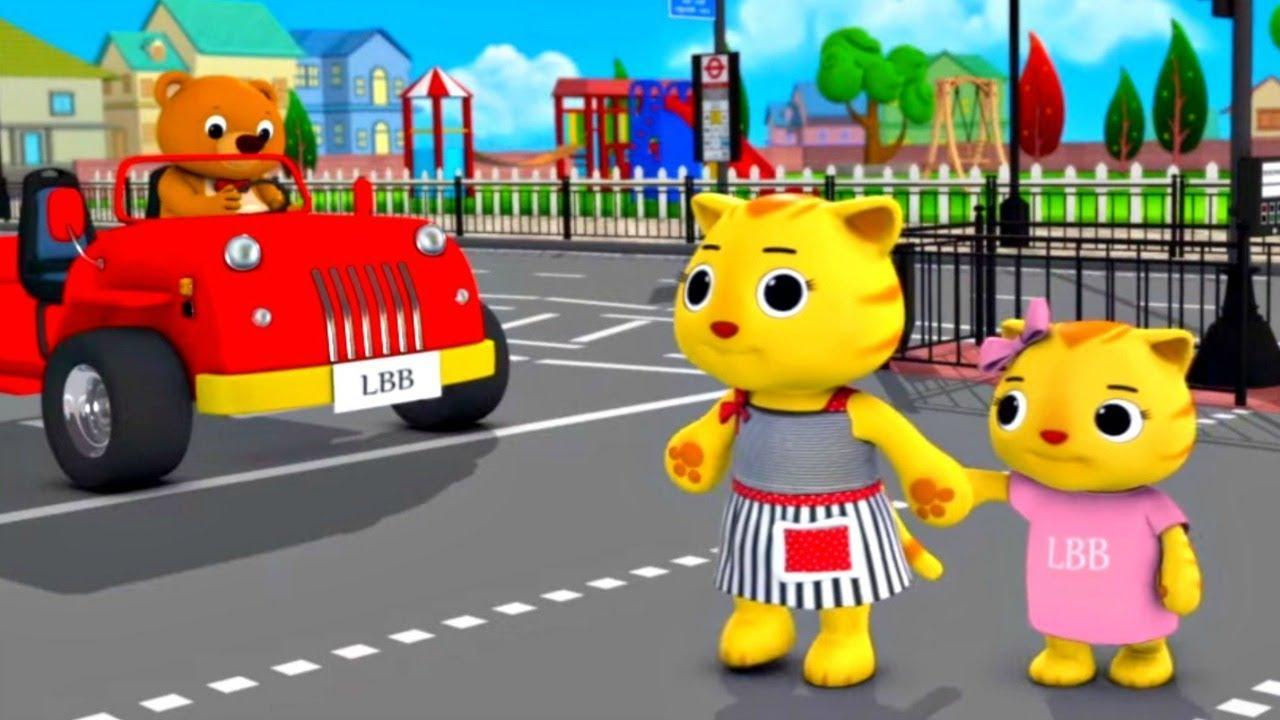Учимся переходить дорогу - Мультики для малышей - Сборник детских песен Литл Бэйби Бам