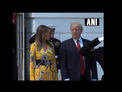 PM Narendra Modi arrives at the White House to meet President Trump