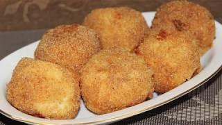 """Из ничего за 10 минут! Люблю я такие обалденные рецепты! Эти картофельные бомбочки просто """"огонь""""!"""