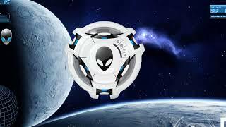 Repeat youtube video Rainmeter BlueVision V0.2 + Alienware skins