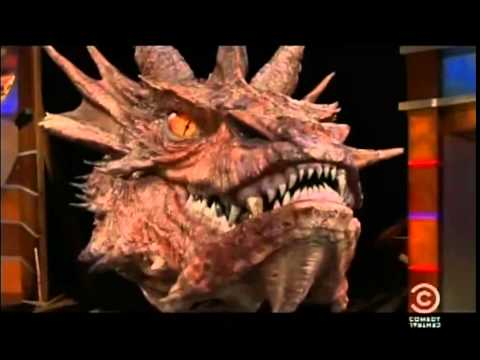 Stephen Colbert interviewing Smaug - YouTube