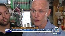 Okeechobee city council member arrested