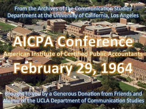 AICPA Conference at UCLA 2/29/1964