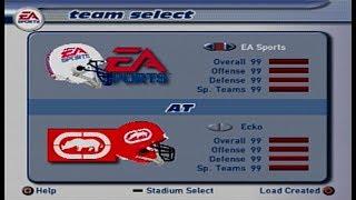 Madden 2002 EA Sports Team vs Ecko