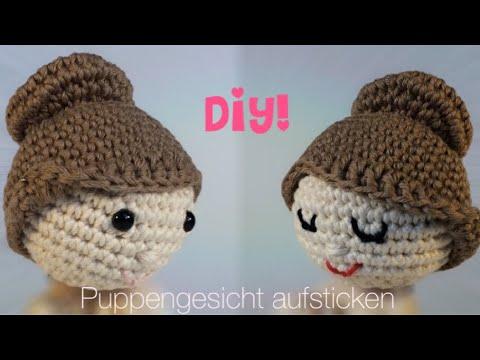 Diy Puppengesicht Aufsticken Schnell Und Einfach Youtube