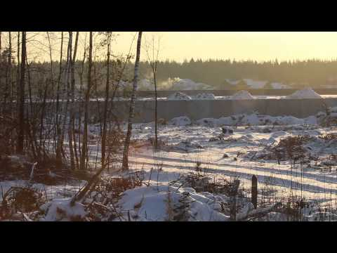 Building a fence on Chkalovskiy AFB