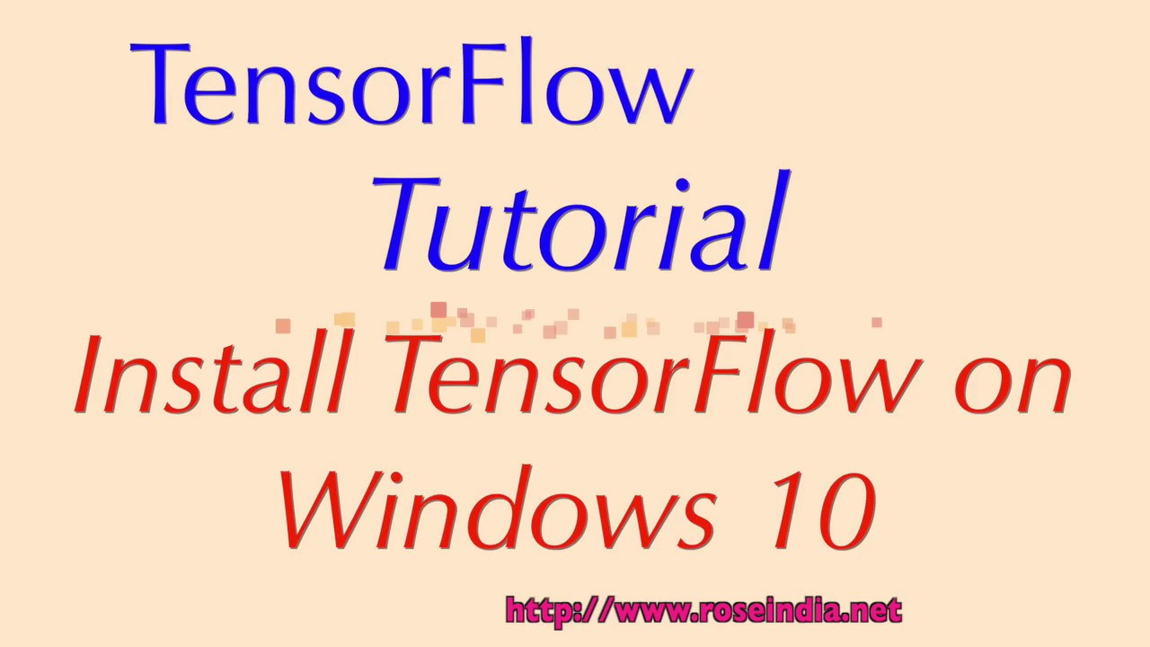 installing tensorflow on windows 10