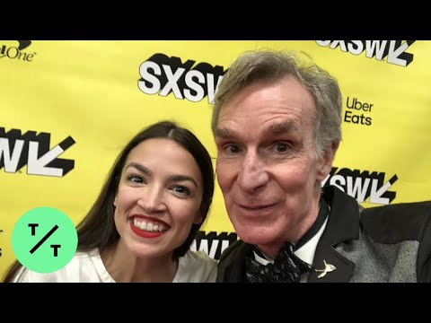 AOC Surprised by Bill Nye at SXSW