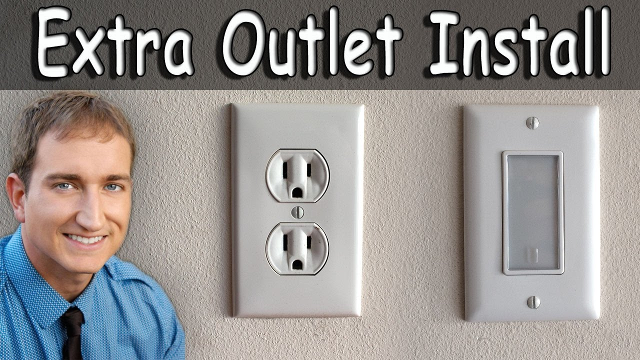 How to install an extra electrical outlet and outlet night light how to install an extra electrical outlet and outlet night light aloadofball Images