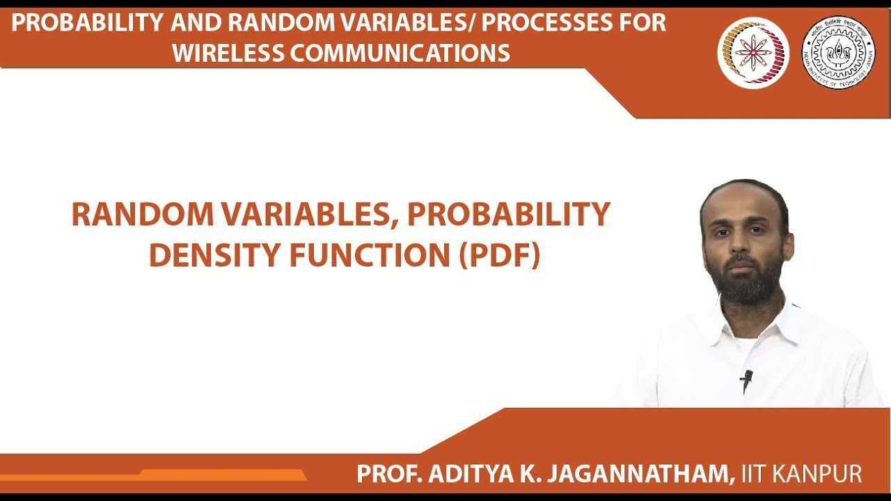 Random Variables, Probability Density Function (PDF)
