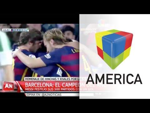 Messi celebró su partido 500 en Barcelona con un gol y la punta en la Liga